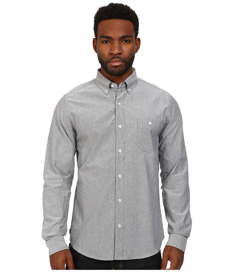 Crooks & Castles - Good Fella Woven L/S Shirt (Black) Men's Long Sleeve Button Up