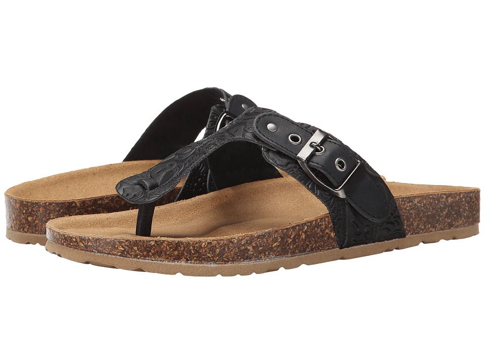 Seychelles - Halcyon Days (Black Tooled Leather) Women's Sandals