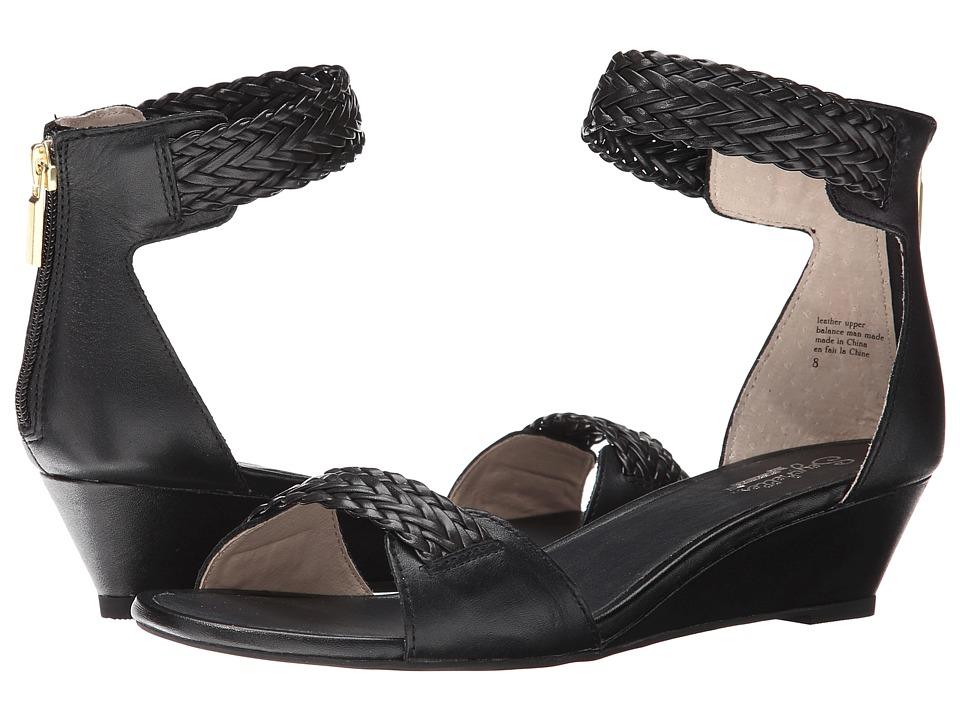 Seychelles - Spelling Bee (Black) Women's Wedge Shoes