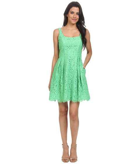 Shoshanna - Svetlana Lace Dress (Apple Green) Women's Dress