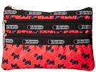 LeSportsac Three Zip Cosmetic (Scotty Dot Red)