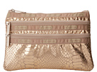 LeSportsac Three Zip Cosmetic (Gold Foil Snake)