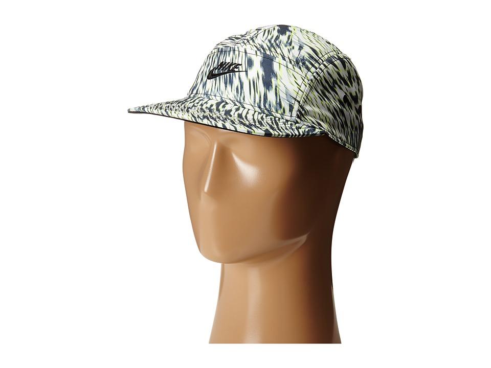 Nike - AW84 Print Cap (White/Black/Black/Black) Baseball Caps