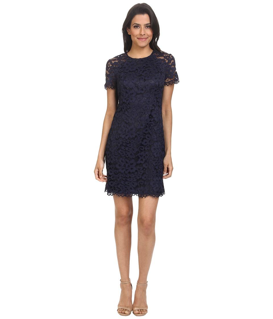 Shoshanna - Beverly Lace Dress (Navy) Women