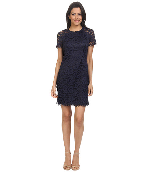 Shoshanna - Beverly Lace Dress (Navy) Women's Dress