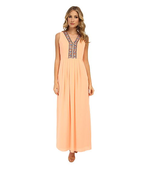 Shoshanna - Luna Maxi Dress (Cantaloupe) Women