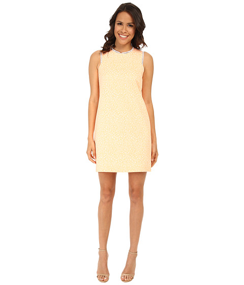 Shoshanna - Gerri Dress (Orange/Cream) Women's Dress