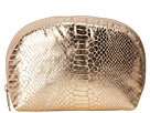 LeSportsac Medium Dome Cosmetic (Gold Foil Snake)