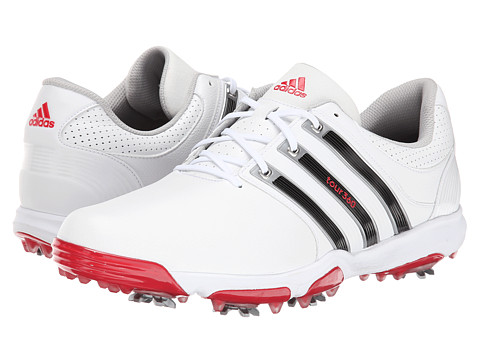 adidas Golf - Tour 360 X (White/Core Black/Red) Men's Golf Shoes