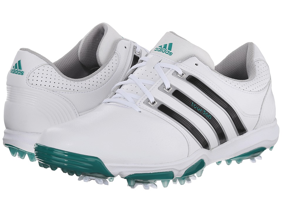 adidas Golf - Tour 360 X (White/Core Black/Power Green) Men