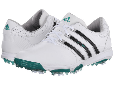 adidas Golf - Tour 360 X (White/Core Black/Power Green) Men's Golf Shoes