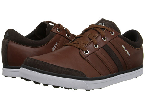 adidas Golf - adicross Gripmore (Tan Brown/Chocolate/Power Green) Men's Golf Shoes