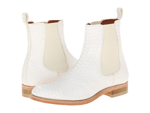 Penelope Chilvers - Rye Python Boot (White) Women's Pull-on Boots