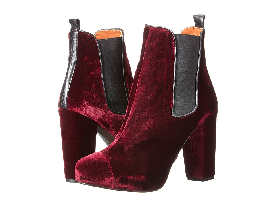 Penelope Chilvers - Carmen Velvet (Claret) Women's Pull-on Boots