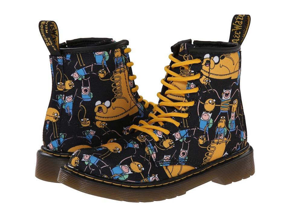 Dr. Martens Kid's Collection - Adventure Time Delaney Lace Boot (Little Kid/Big Kid) (Multi Character T Canvas) Kids Shoes