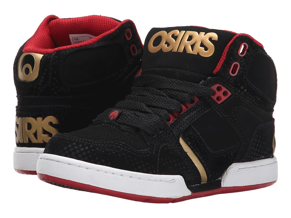 Osiris Kids - NYC83 Kids (Little Kid/Big Kid) (Black/Red/DPI) Boys Shoes