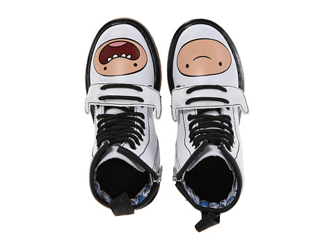 Dr. Martens Kid's Collection - Adventure Time Finn D (Little Kid) (White Softy T) Kids Shoes