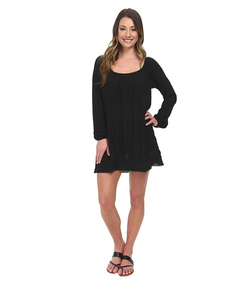 Roxy - Sweet Tropics Dress Cover-Up (True Black) Women's Swimwear