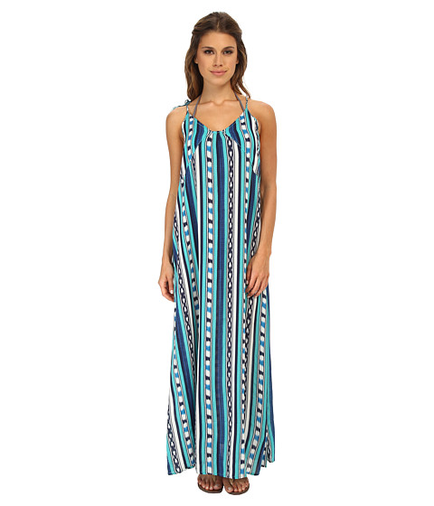 Roxy - Ikat Dream Dress Cover-Up (Ocean Breeze Ikat Turquoise) Women