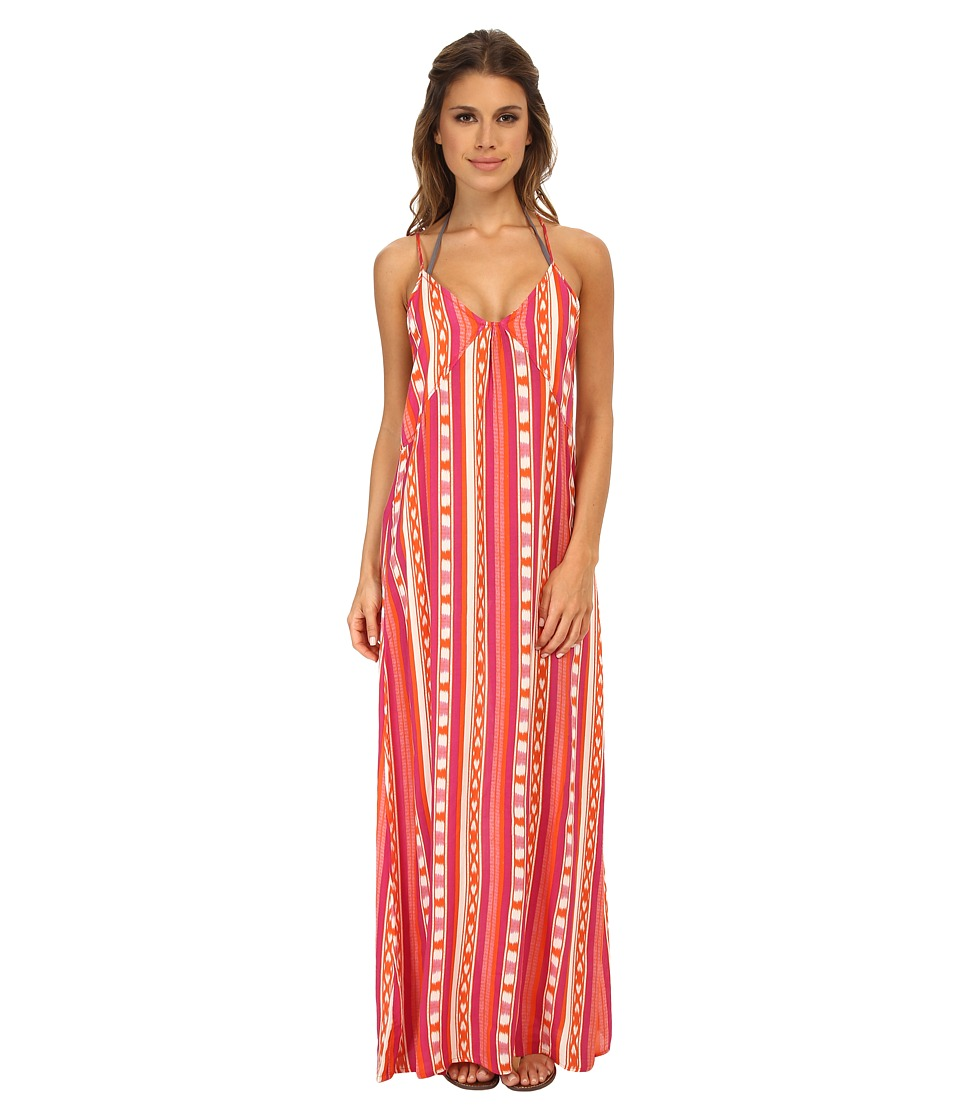 Roxy - Ikat Dream Dress Cover-Up (Ocean Breeze Ikat Orange) Women's Swimwear