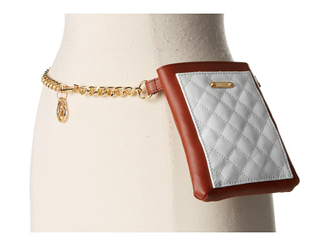 MICHAEL Michael Kors - Quilted Pocket Belt Bag on Chain Strap (Luggage White) Women's Belts