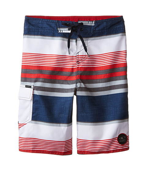 O'Neill Kids - Santa Cruz Stripe (Big Kids) (Dark Navy) Boy's Swimwear