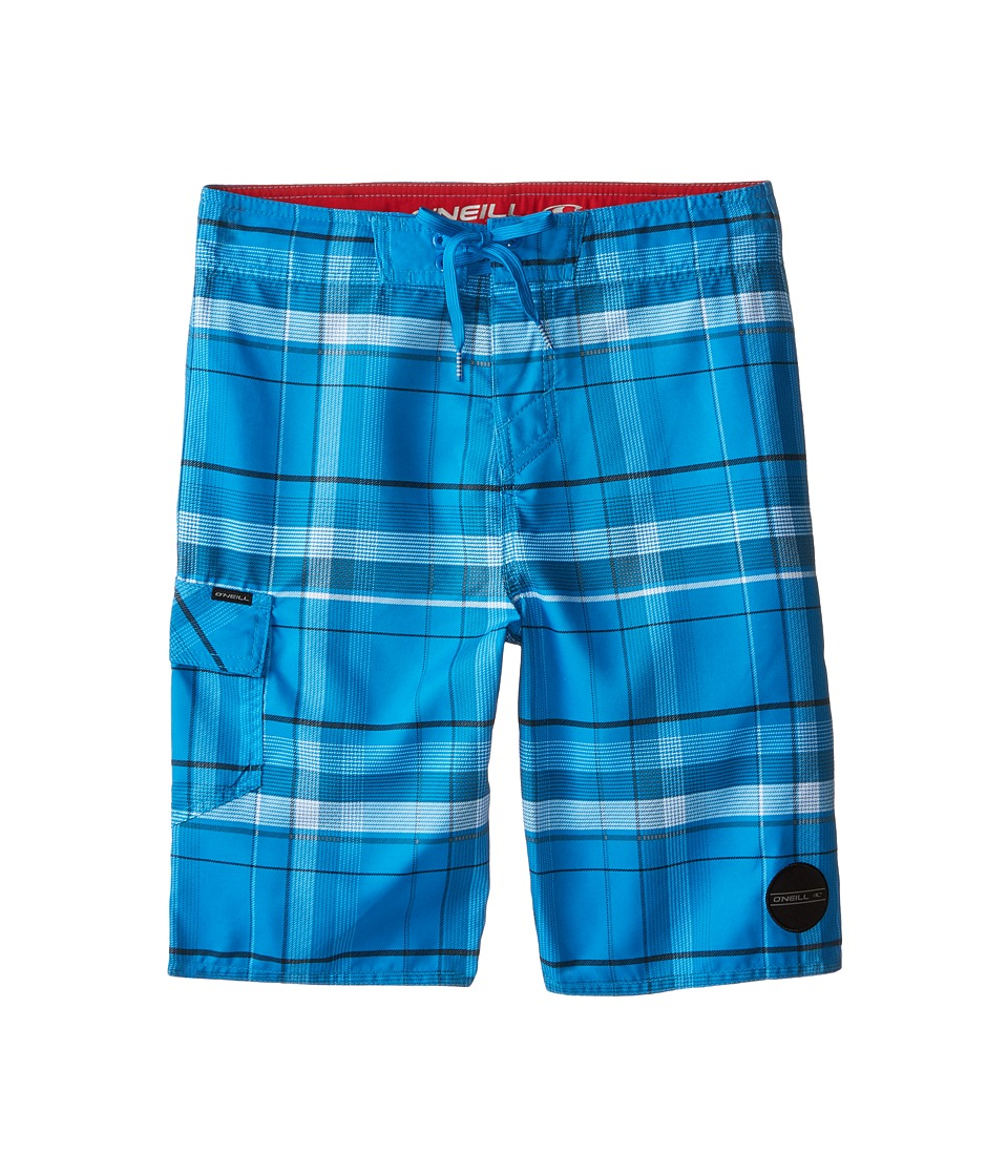 O'Neill Kids - Santa Cruz Plaid (Big Kids) (Blue) Boy's Swimwear