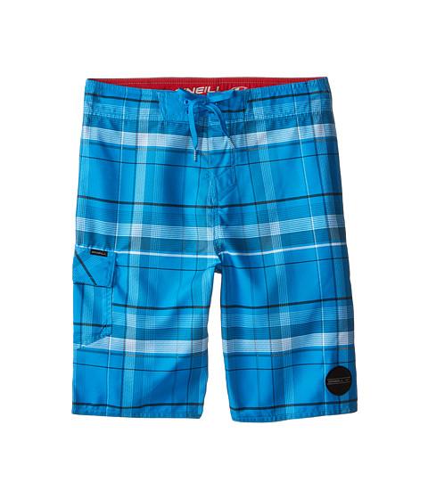 O'Neill Kids - Santa Cruz Plaid (Big Kids) (Blue) Boy's Swimwear