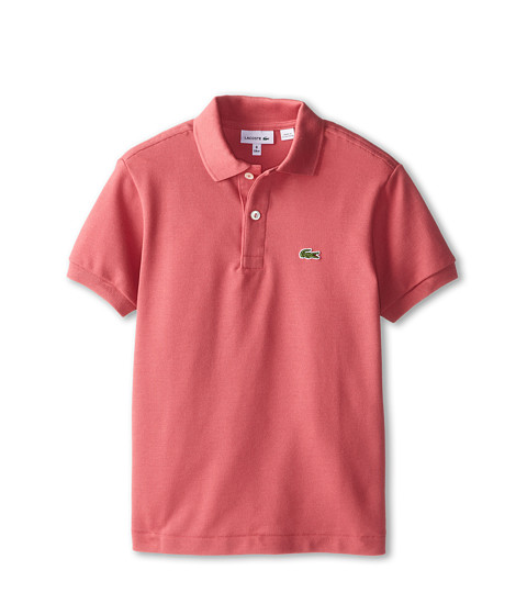 Lacoste Kids - Short Sleeve Classic Pique Polo Shirt (Toddler/Little Kids/Big Kids) (Horizon Pink) Boy's Short Sleeve Pullover