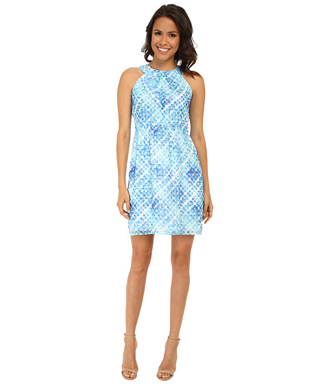 Shoshanna - Adrianna Dress (Aquamarine Multi) Women's Dress