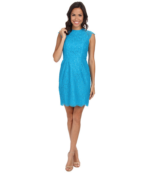 Shoshanna - Mariah Dress (Cyan Blue) Women