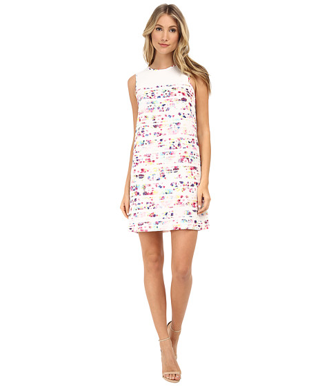 Shoshanna - Gerri Dress (Watercolor Floral Stripe) Women's Dress