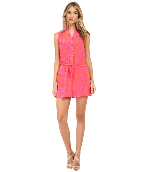 Shoshanna - Darcy Romper (Orange/Pink) Women's Jumpsuit & Rompers One Piece