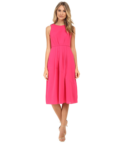 Shoshanna - Mabrey Midi Dress (Fuchsia) Women's Dress