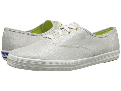 Keds - Champion Metallic Linen (Silver) Women's Lace up casual Shoes