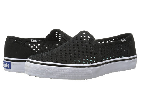 Keds - Double Decker Perf (Black) Women's Slip on Shoes