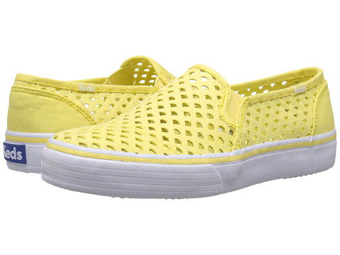 Keds - Double Decker Perf (Lemon Yellow) Women