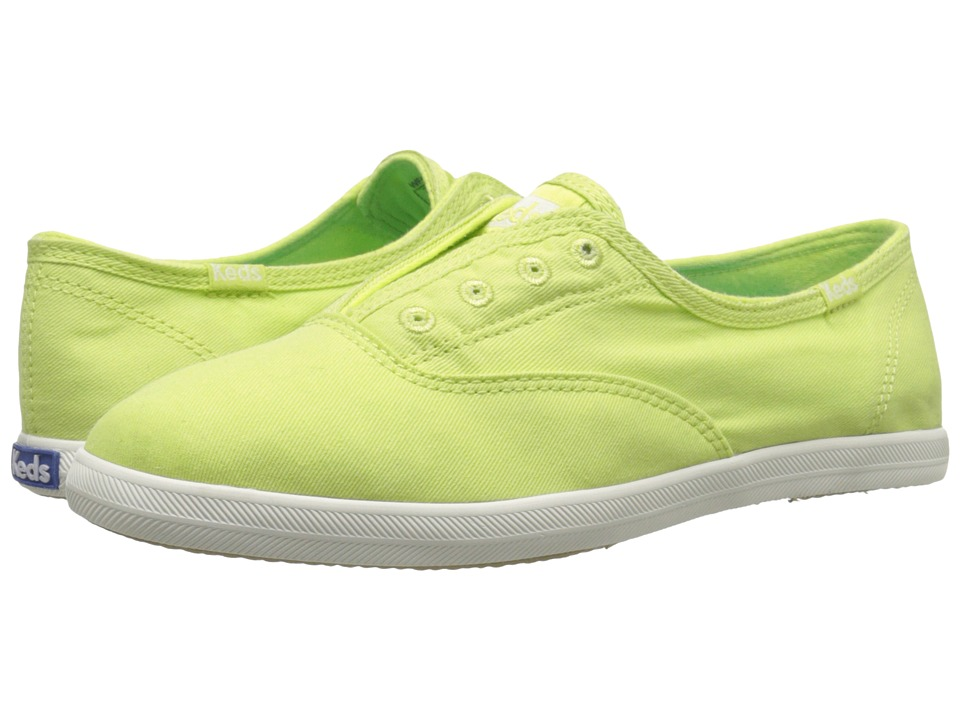Keds - Chillax Seasonal Solids (Lime Green) Women's Slip on Shoes