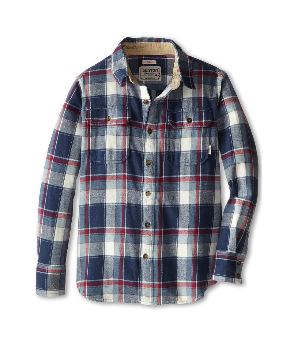 Burton Kids - Brighton Flannel (Little Kids/Big Kids) (Smoke Blue Impulse Plaid) Boy's Long Sleeve Button Up