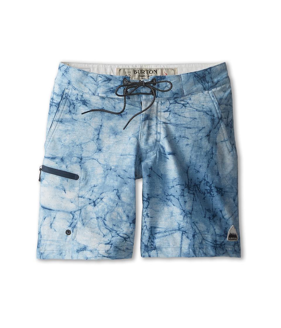 Burton Kids - Moxie Boardshort (Big Kids) (Indigo Stone Print) Boy's Swimwear