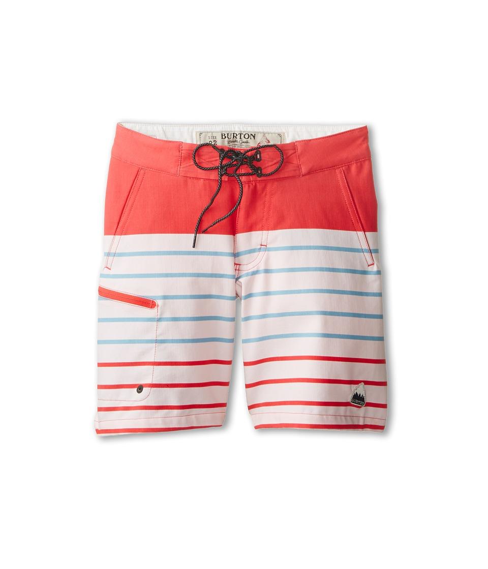 Burton Kids - Moxie Boardshort (Big Kids) (Bittersweet/Dusk Blue Lapland Stripe) Boy