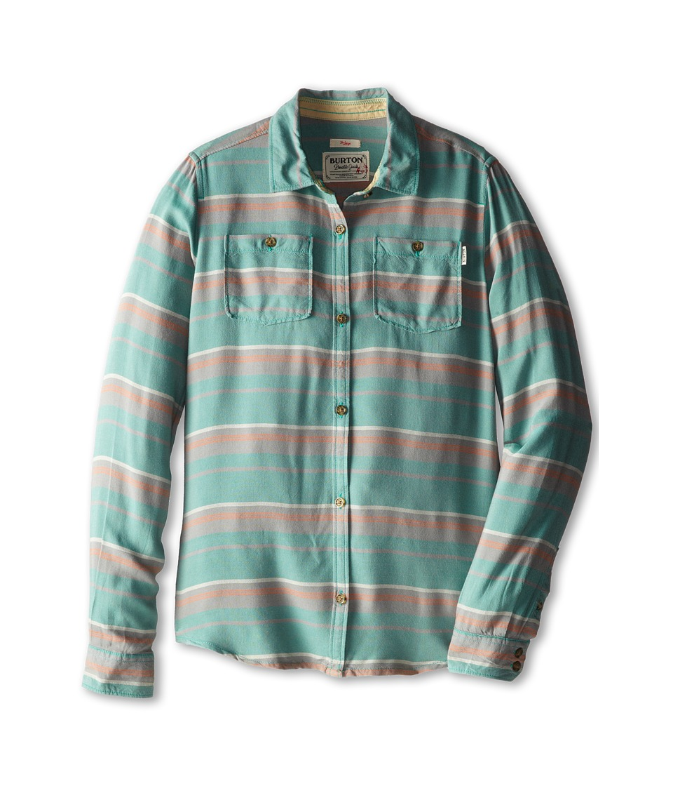 Burton Kids - Grave L/S Woven Top (Little Kids/Big Kids) (Monument Laurel Stripe) Girl's Long Sleeve Button Up