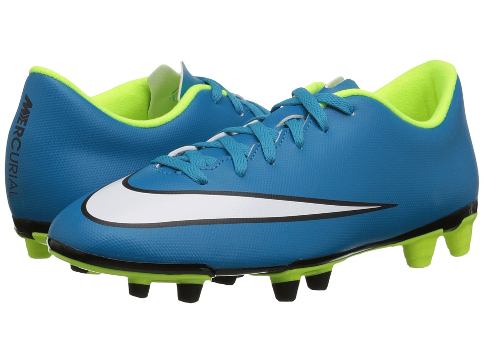 Nike - Mercurial Vortex II FG (Blue Lagoon/Volt/Black/White) Women's Soccer Shoes