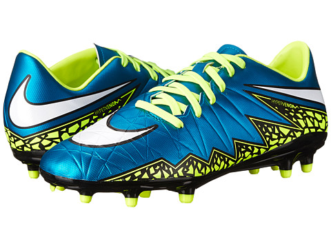 Nike - Hypervenom Phelon 2 FG (Blue Lagoon/Volt/Black/White) Women's Soccer Shoes