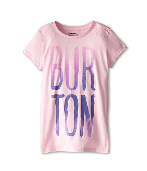 Burton Kids - Large Type S/S Tee (Big Kids) (Parfait Pink) Girl