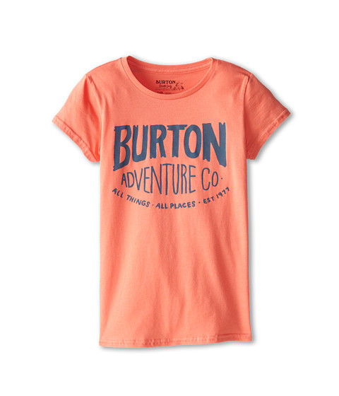 Burton Kids - All Things All Places S/S Tee (Big Kids) (Fresh Salmon) Girl