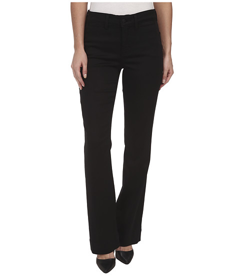 NYDJ - Michelle Trouser - Slick Twill (Black) Women's Casual Pants