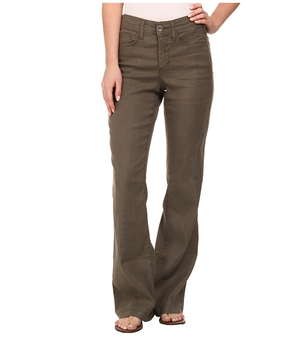 NYDJ - Wylie Trouser Linen-Blend (Dark Olive) Women's Casual Pants