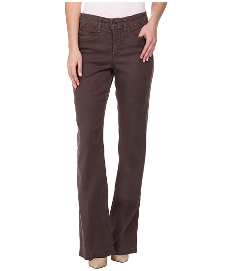NYDJ - Wylie Trouser Linen-Blend (Otter Brown) Women's Casual Pants