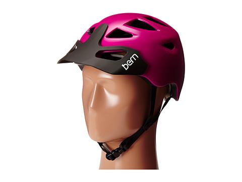 Bern - Prescott w/ Hard Visor (Satin Fuchsia Purple) Snow/Ski/Adventure Helmet